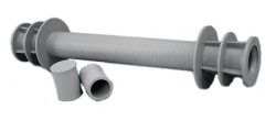 Distance guard pipe for framework walls – for a distance of 25 cm set with 2 caps